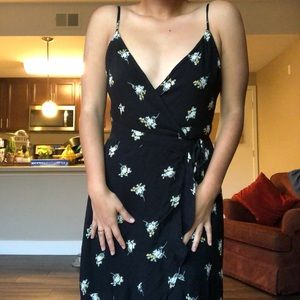 Blue abercrombie and fitch maxi dress